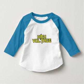 高圧3/4枚のワイシャツ(淡いブルーの) Tシャツ