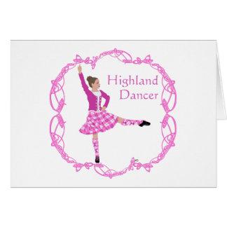 高地のダンサーのピンクAboyne カード