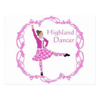 高地のダンサーのピンクAboyne ポストカード
