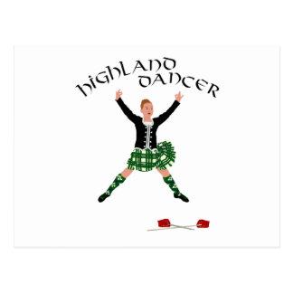 高地のダンサーのGhillie Callumの剣の舞 ポストカード