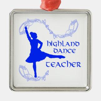 高地のダンスの先生-青 メタルオーナメント
