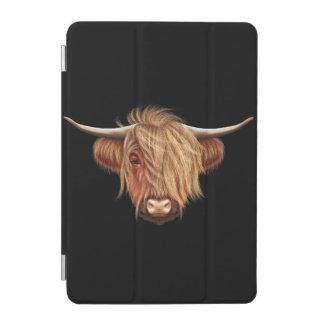 高地の牛の図解入りの、写真付きのなポートレート iPad MINIカバー
