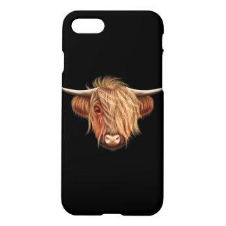 高地の牛の図解入りの、写真付きのなポートレート iPhone 8/7 ケース