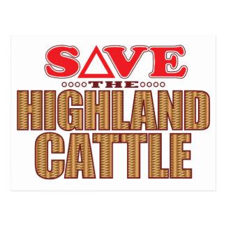 高地の牛は救います ポストカード