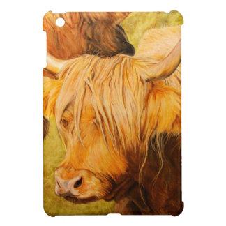 高地牛、スコットランドの牛 iPad MINIケース