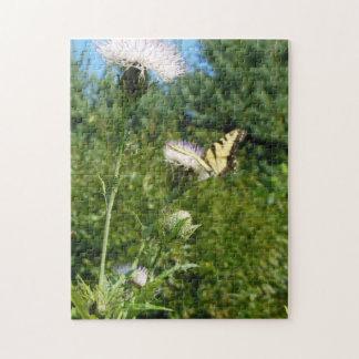 高地N.C.のアザミそして蝶 ジグソーパズル