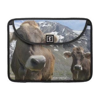 「高山のブラウン」の品種の牛 MacBook PROスリーブ