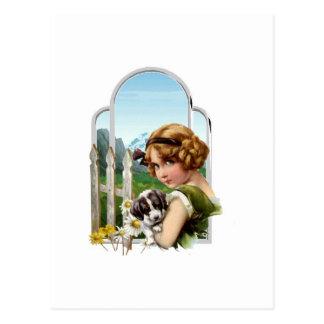 高山の女中 ポストカード