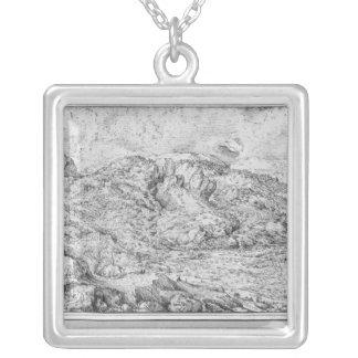 高山の景色1553年 シルバープレートネックレス