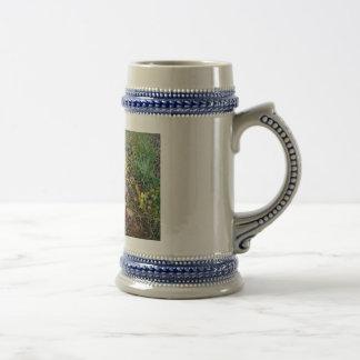 高山の野生の花ステイン ビールジョッキ