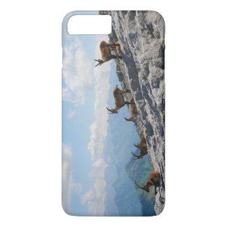 高山のIbexの野生のマウンテンゴート iPhone 8 Plus/7 Plusケース