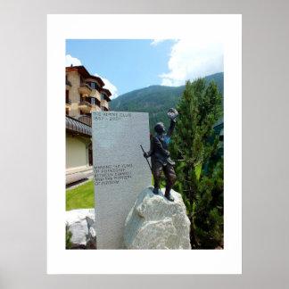 高山クラブ彫像 ポスター