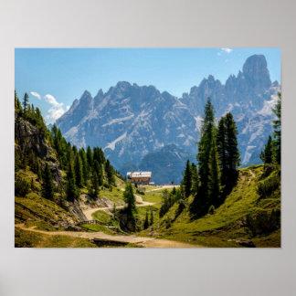 高山山、景色の景色の写真 ポスター