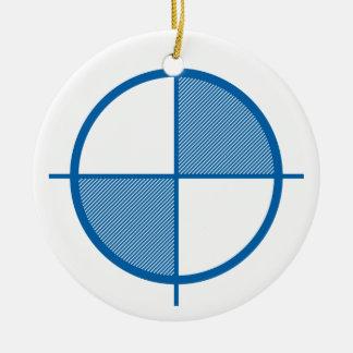 高度の記号のオーナメント(青い) セラミックオーナメント