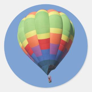 高度IIの熱気の気球のステッカー ラウンドシール