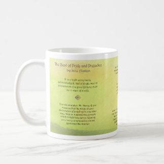 高慢と偏見のジェーンAustenの引用文のベスト コーヒーマグカップ