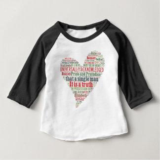 高慢と偏見の単語の雲 ベビーTシャツ