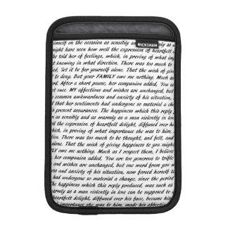 高慢と偏見の文字 iPad MINIスリーブ