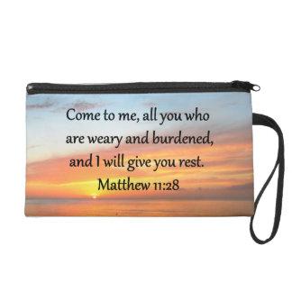 高揚のMATTHEWの11:28の聖なる書物、経典の詩の日の出 リストレット