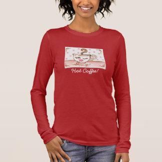 高温多湿、熱いコーヒー! 女性のワイシャツ Tシャツ