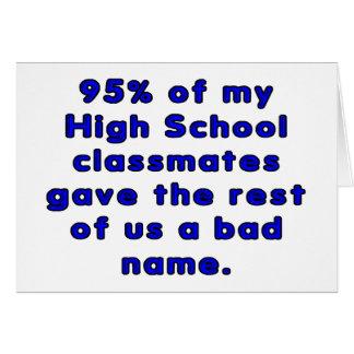 高等学校の卒業クラスの皮肉 カード