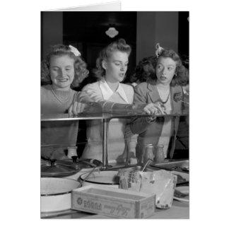 高等学校の女の子、40年代 カード