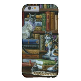 高等教育の図書館猫のiPhone 6、やっとそこに Barely There iPhone 6 ケース