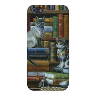 高等教育の図書館猫 iPhone 5 COVER