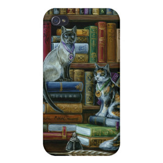 高等教育の図書館猫iPhone4の例 iPhone 4 Cover