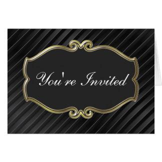 高級なビジネスパーティの招待状 カード