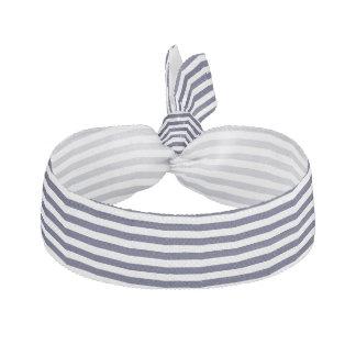 高級なベニス風のベニスの青い白のストライプパターン ヘアタイ