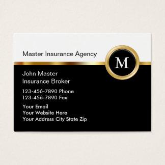 高級な保険業カード 名刺
