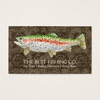 高級な魚釣りのチャーターのボートガイドビジネス魚 名刺
