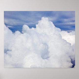高角から見られる積雲。 ポスター
