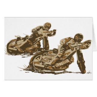 高速自動車道路のオートバイのレーサー カード