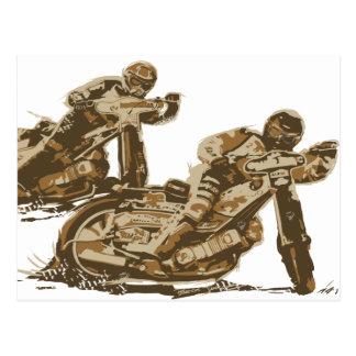 高速自動車道路のオートバイのレーサー ポストカード