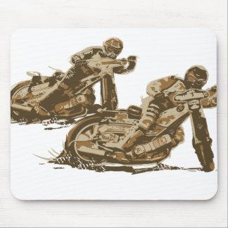 高速自動車道路のオートバイのレーサー マウスパッド