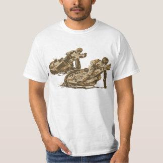 高速自動車道路のオートバイのレーサー Tシャツ
