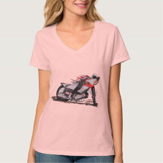高速自動車道路のオートバイ競争#5 Tシャツ