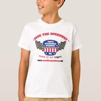 高速自動車道路の子供のTシャツを救って下さい Tシャツ