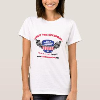 高速自動車道路レディースワイシャツを救って下さい Tシャツ