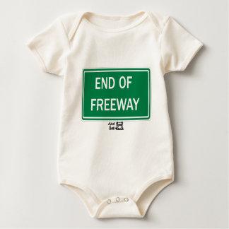 高速道路の交通標識の端 ベビーボディスーツ