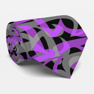 高速道路の抽象的なレトロの2側のプリント ネクタイ