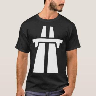 高速道路、高速道路、アウトバーン-白 Tシャツ