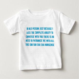 高齢者のスピーチのベビーの子供のTシャツ ベビーTシャツ