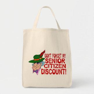 高齢者の割引 トートバッグ
