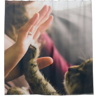 高5猫の足 シャワーカーテン