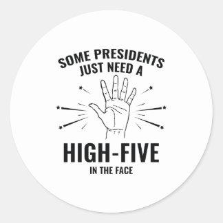 高5 Face大統領 ラウンドシール