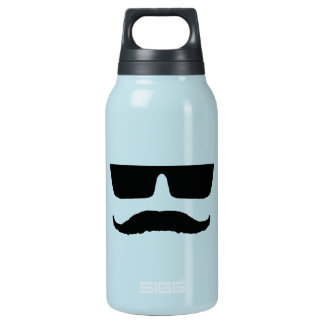髭およびガラス 断熱ウォーターボトル