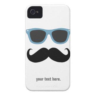 髭およびサングラス-あなたの文字を加えて下さい Case-Mate iPhone 4 ケース